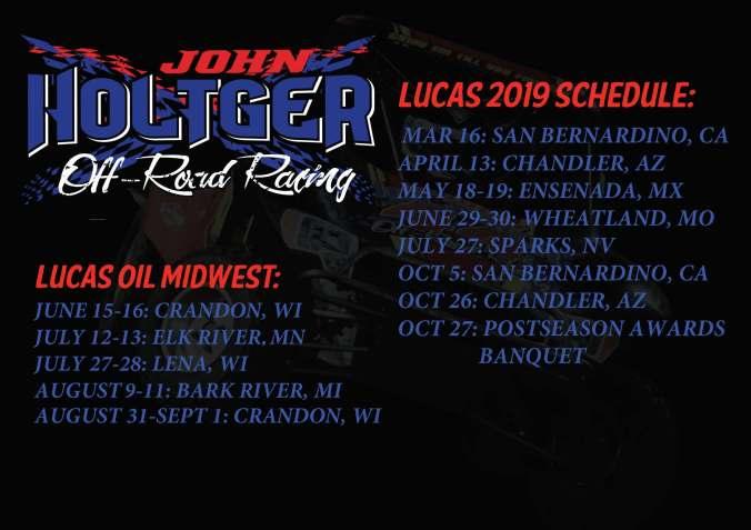 2019 UPDATED Lucas Oil Schedule